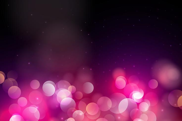 Abstract Pink Circle blurred light, Bokeh lights and glitter background Vector