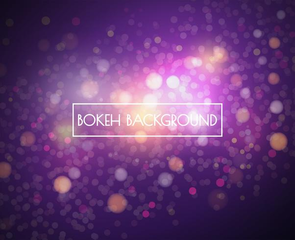 Bokeh lights and glitter background Vector