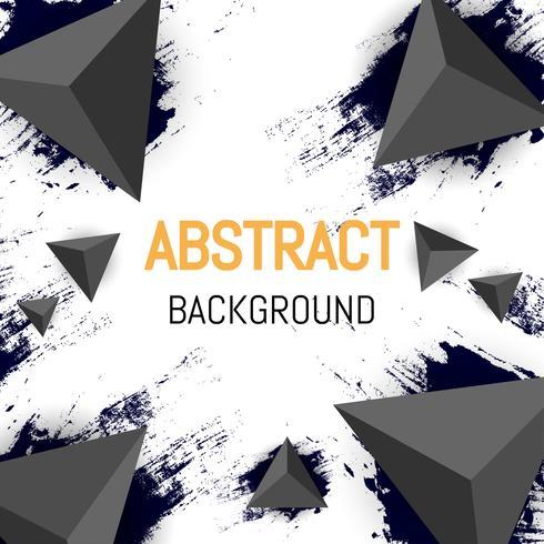 Design de fundo abstrato triângulo, design de folheto 3d e fundo preto vetor