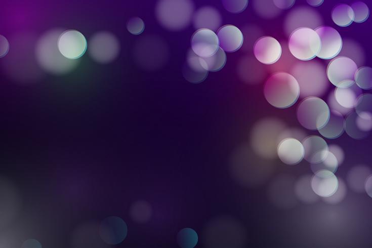 Resumo Defocused bokeh fundo, brilho e círculo luz brilhando no vetor de fundo escuro