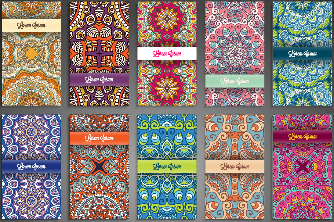 Ethnic Pattern Background Coverpage Design Vector