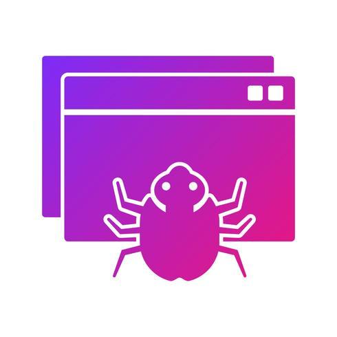 SEO, icône de glyphe d'interface utilisateur d'optimisation de moteur de recherche avec l'arrière-plan de couleur de dégradé