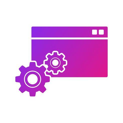 SEO, ícone de glifo de pesquisa Search Engine Optimization com gradiente de cor de fundo
