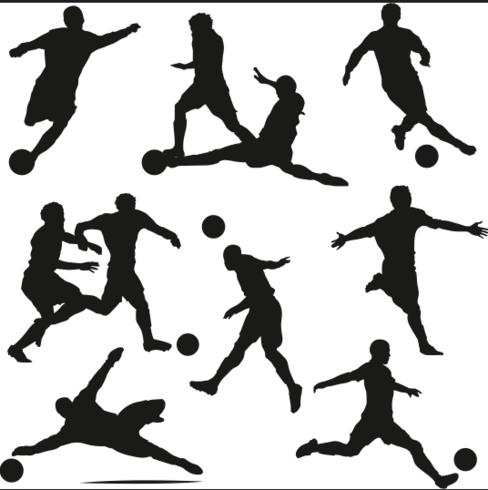 Vector de silueta de jugador de fútbol
