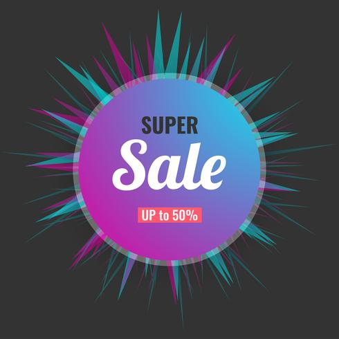 Abstracte super verkoop banner moderne achtergrond. vector