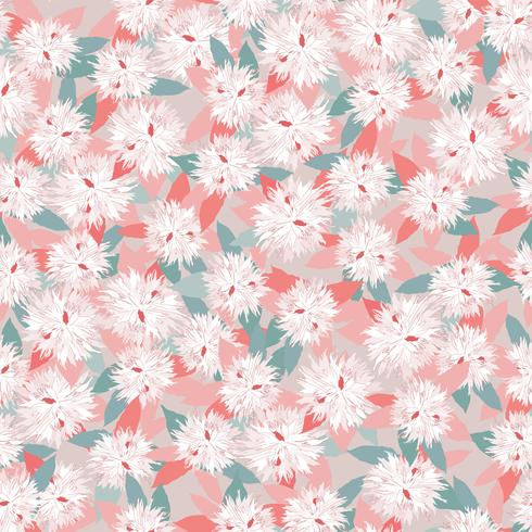 Floral seamless pattern. Flower background. Garden nature ornament vector