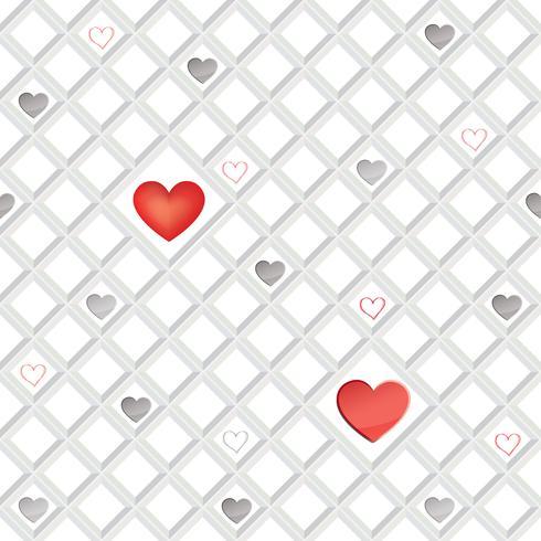 Amor corazón de patrones sin fisuras día de San Valentín ornamento geométrico de vacaciones