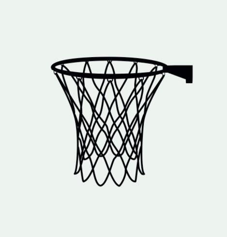 silhouette netto di basket - vettoriale