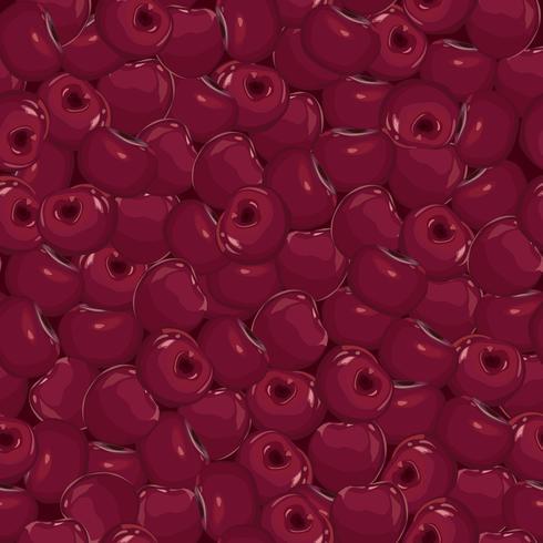 Körsbärsmönster. Berry öken sömlös mönster. Fruktfärsk mat