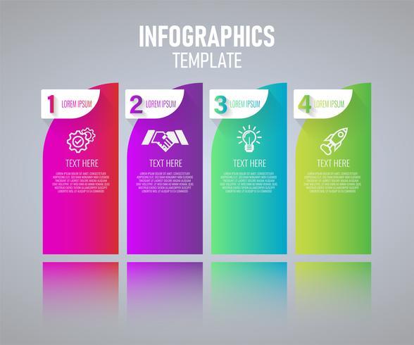 Diseño colorido de la plantilla de Infographics, elementos abstractos del grah con pasos. ilustración vectorial vector