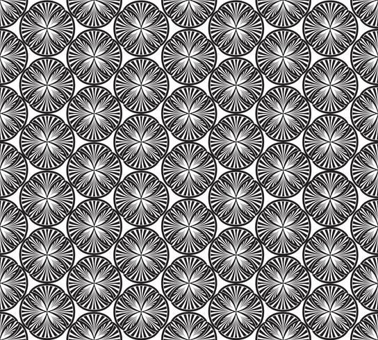 Modelo geométrico inconsútil Ornamento floral abstracto. Textura oriental