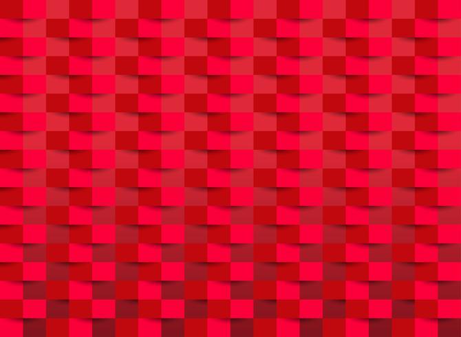 Papel tapiz rojo con textura rectangular. ilustración vectorial