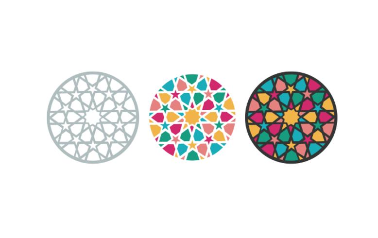 Arabisk, islamisk mönster - vektor