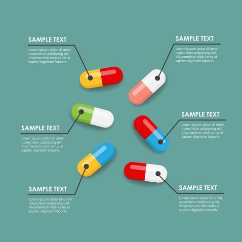 Infographie des pilules vecteur