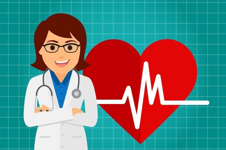 Médico de cuidados de saúde (mulher) vetor