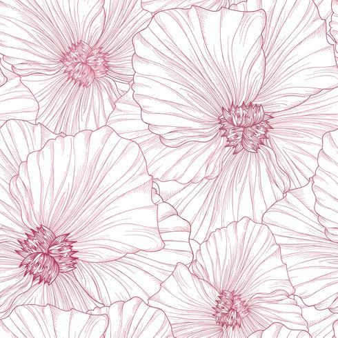 Nahtlose Blümchenmuster Blumen Hintergrund Blühender Frühlingsgarten