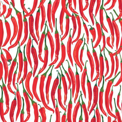 Modèle sans couture de poivre. Fond de légume ingrédient alimentaire épice chaud