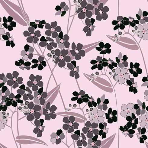 Motivo floreale senza soluzione di continuità. Sfondo di fiori Trama giardino fiorito vettore