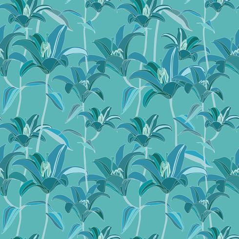 Floral pattern. Flower seamless background. Flourish ornamental garden vector