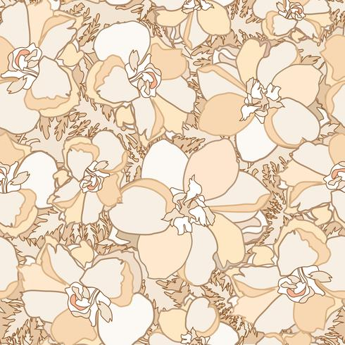 Floral seamless pattern. Flower background. Flourish garden texture vector
