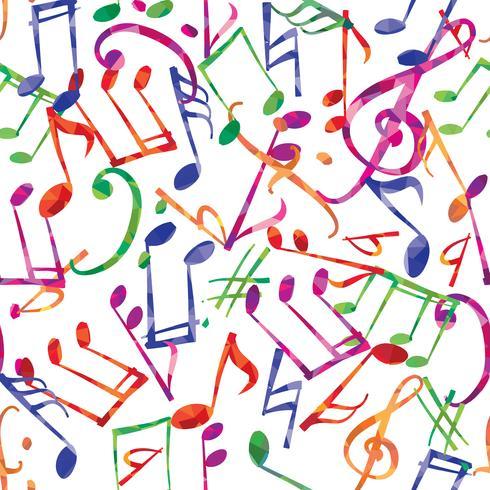 Muziek patroon. Muzieknota's en tekens naadloze achtergrond