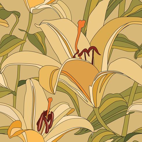Patrón floral. Flor de fondo sin fisuras. Floreciente jardín ornamental.