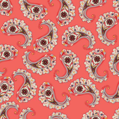 Floral seamless background. Oriental ornament. leaves pattern. vector