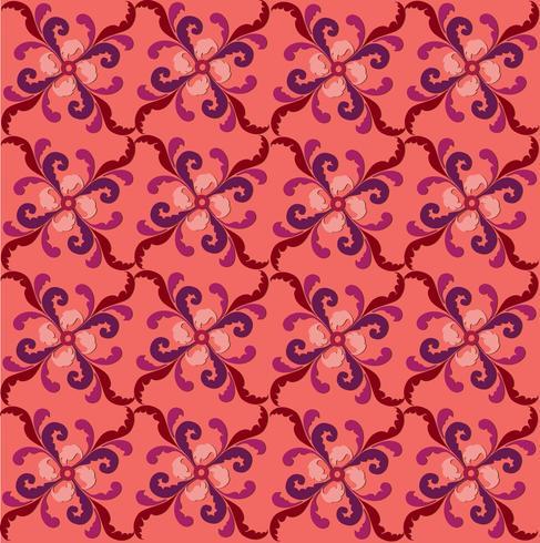 Modello di linea orientale Abstract floral ornament Swirl tessuto di fondo