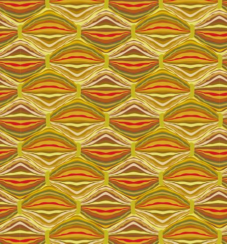 Abstract wavy line tile pattern. Wool fabric geometric ornament vector