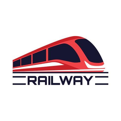 icône de chemin de fer train isolé sur fond blanc