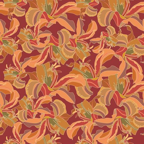 Floral pattern. Flower seamless background. Flourish ornamental garden vector