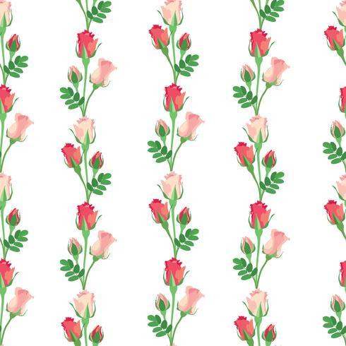 Naadloze bloemmotief. Bloem achtergrond. Decoratieve textuur vector