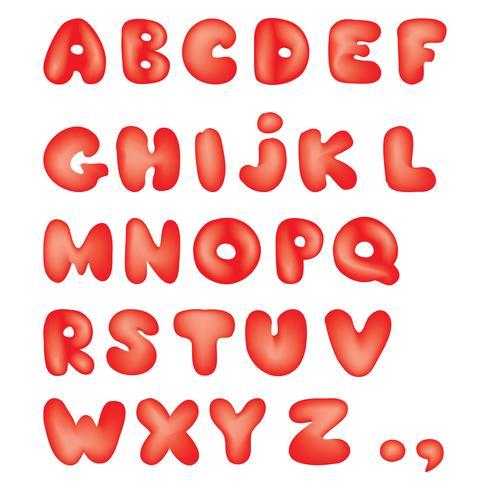 Alphabet. Kid style line latin letter characters alphabet set vector