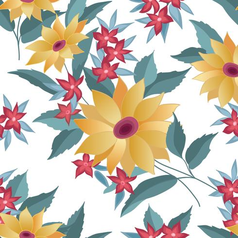 Floral seamless stylish pattern. Spring flower background vector