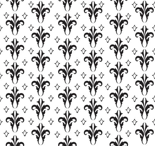 Seamless flower pattern. Abstract floral ornament. Brocade Texture vector