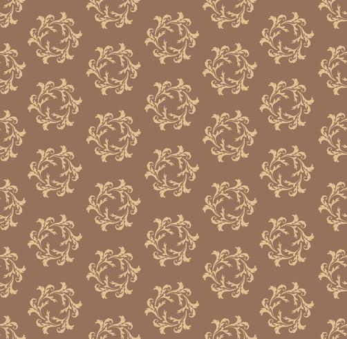 Naadloos bloempatroon. Abstract bloemenornament. Brocade-textuur vector