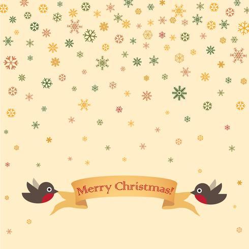 Feliz Natal cartão design. Fundo de neve de férias de inverno vetor