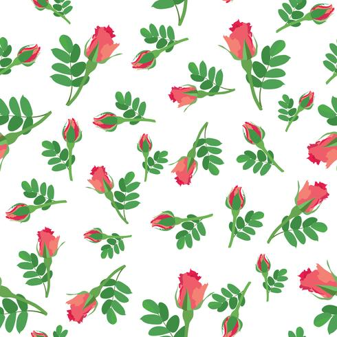 Padrão sem emenda floral. Fundo de flor. Textura ornamental vetor