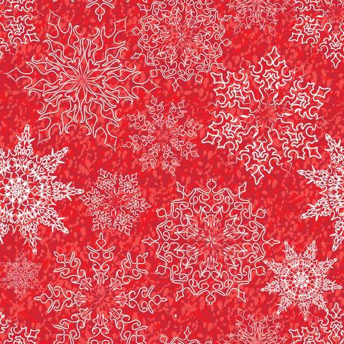 Fondo de vacaciones de invierno de Navidad de patrones sin fisuras de nieve vector