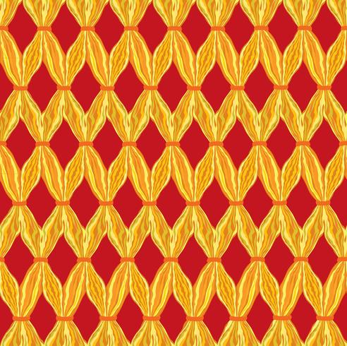 Abstract wavy line tile pattern. Wool fabric geometric ornament