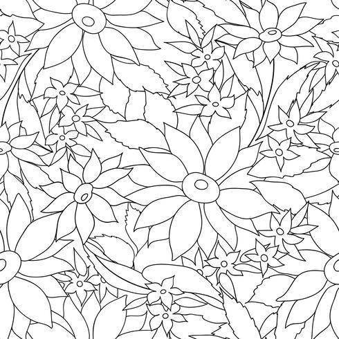 Patrón elegante floral sin fisuras. Fondo de flor de primavera vector