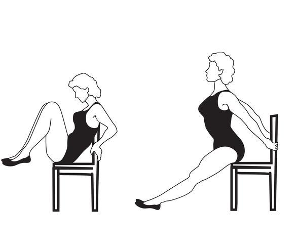 Elegant women silhouettes doing fitness exercises. Fitness club icon set,