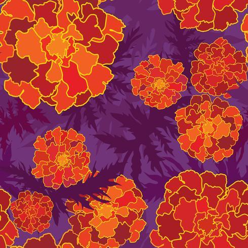 Naadloze bloemmotief. Bloem achtergrond. Bloei tuintextuur vector