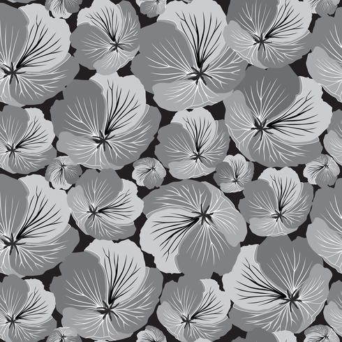 Floral seamless pattern. Flower background. Flourish garden texture vector