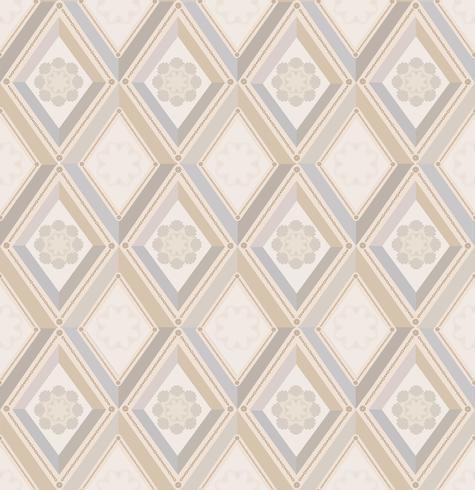 Blumenmuster Flourish deckte Hintergrund mit Ziegeln. Diamant Linie Ornament
