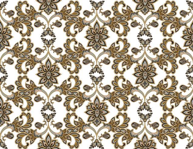 Naadloze bloemmotief. Bloem achtergrond. Bloemen naadloze textuur met bloemen. Flourish betegeld behang vector