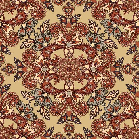 Floral seamless background. Oriental ornament. Flower pattern.