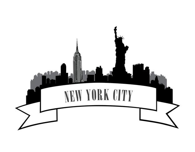 New York, USA skyline. American city travel landmark vector