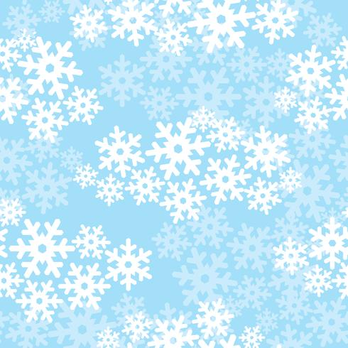 Snow seamless pattern. Christmas Winter holiday background