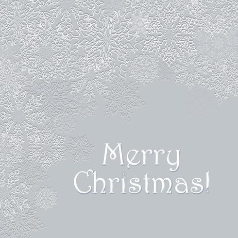 Vrolijk kerstfeest wenskaart ontwerp. Winter vakantie sneeuw achtergrond
